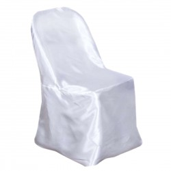 Satin Chair Cover for Folding Chairs White