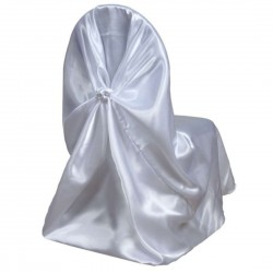Satin Universal Chair Cover White