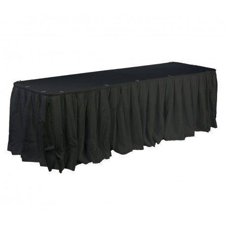 Polyester Table Skirt 15' Long Black