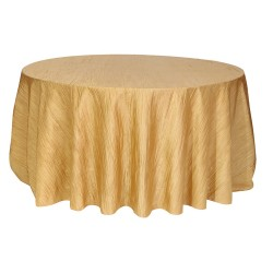 Round Tablecloth Krinkle Taffeta Gold