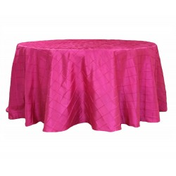 Round Tablecloth Pinktuck Fuchsia
