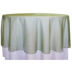 "Organza Round Tablecloth  96"" Green"