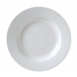 White Rim China Soup Plate 9""