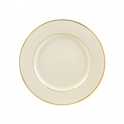 """Ivory China with Gold Band  Salad/Dessert Plate 7 ½"""""""