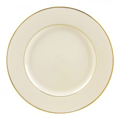 """Ivory China with Gold Band Chop Plate 12"""""""
