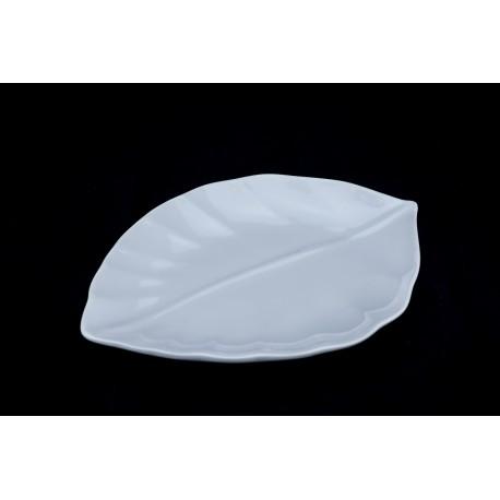 "16"" Leaf Ceramic Platter"