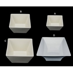 White Square Bowls