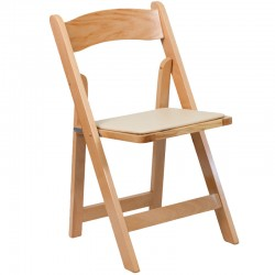 Premium Folding Chair Natural